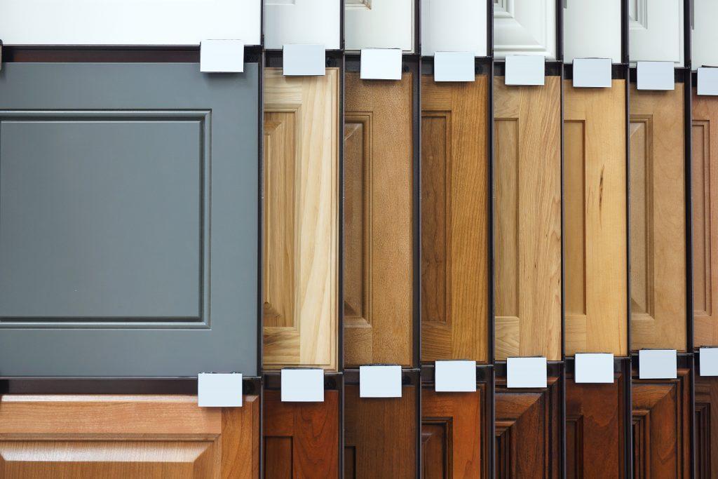 wood cabinet door samples in market | Pierce Flooring